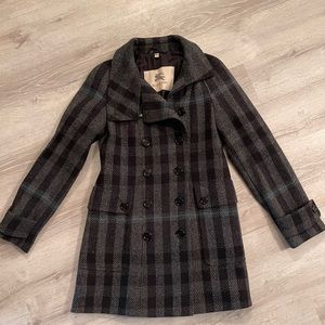 Burberry plaid coat size 8